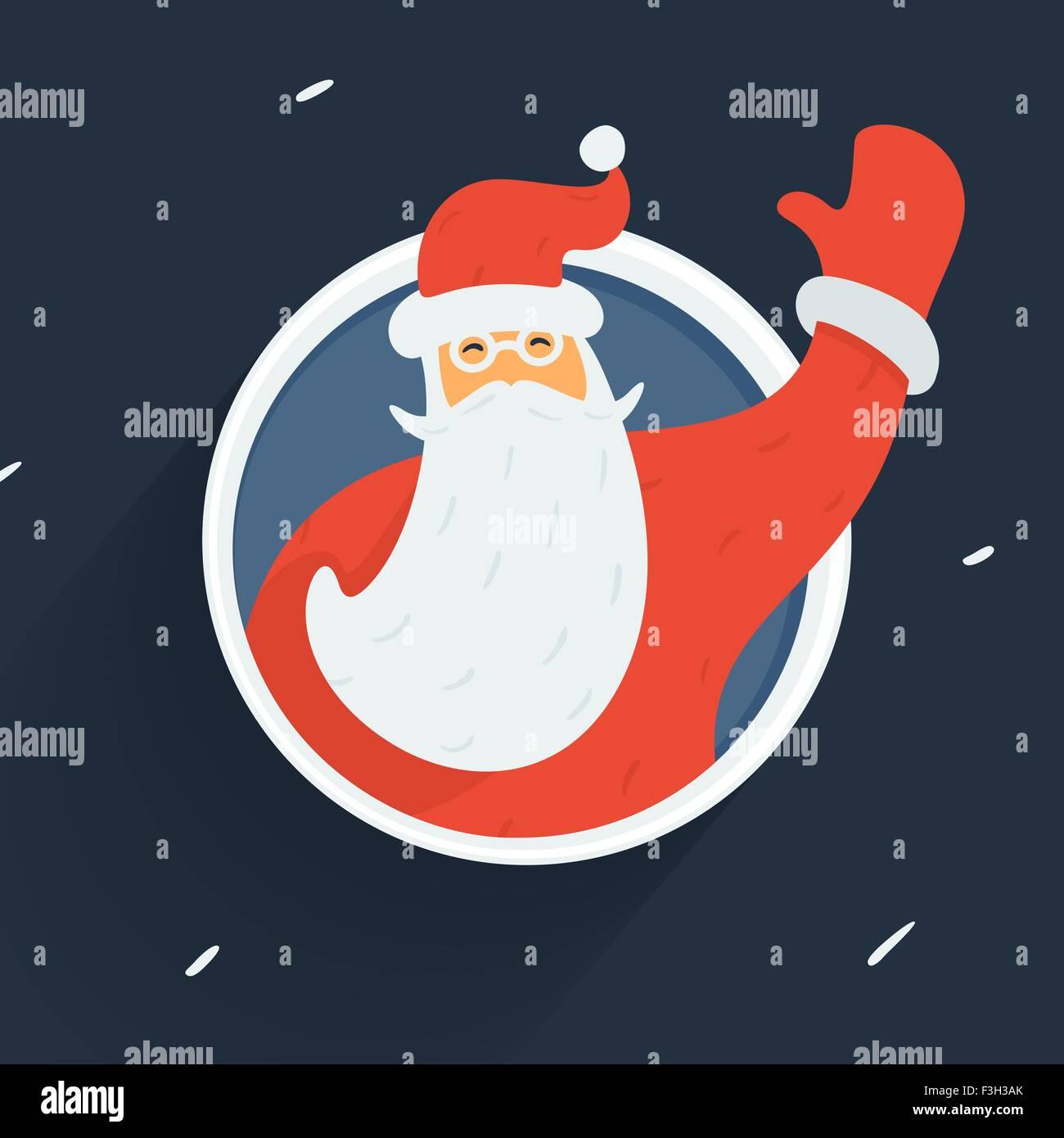 Santa Claus Vector Character - Stock Image