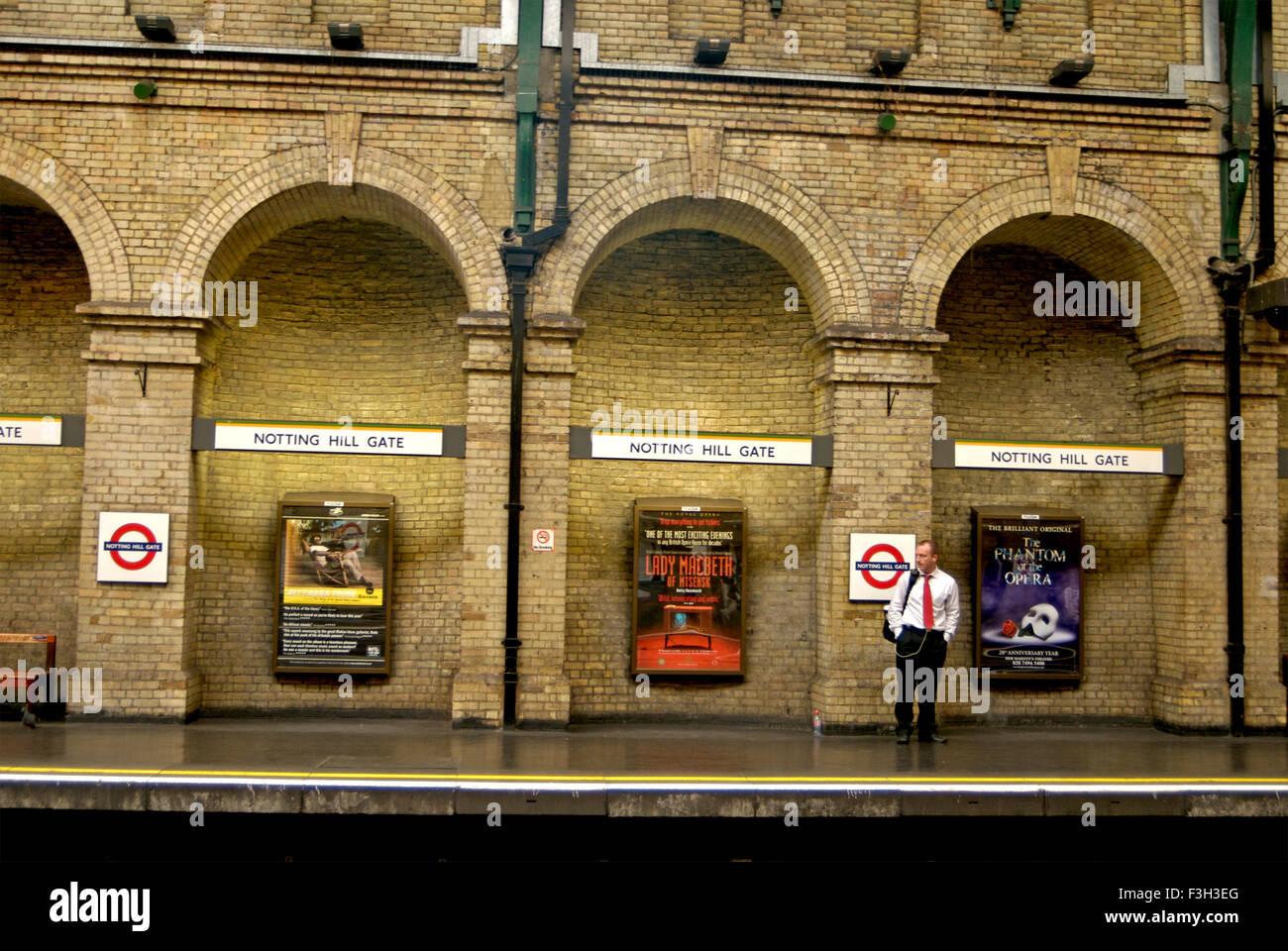 Notting Hill Gate Tube station ; London ; U.K. United Kingdom England Stock Photo