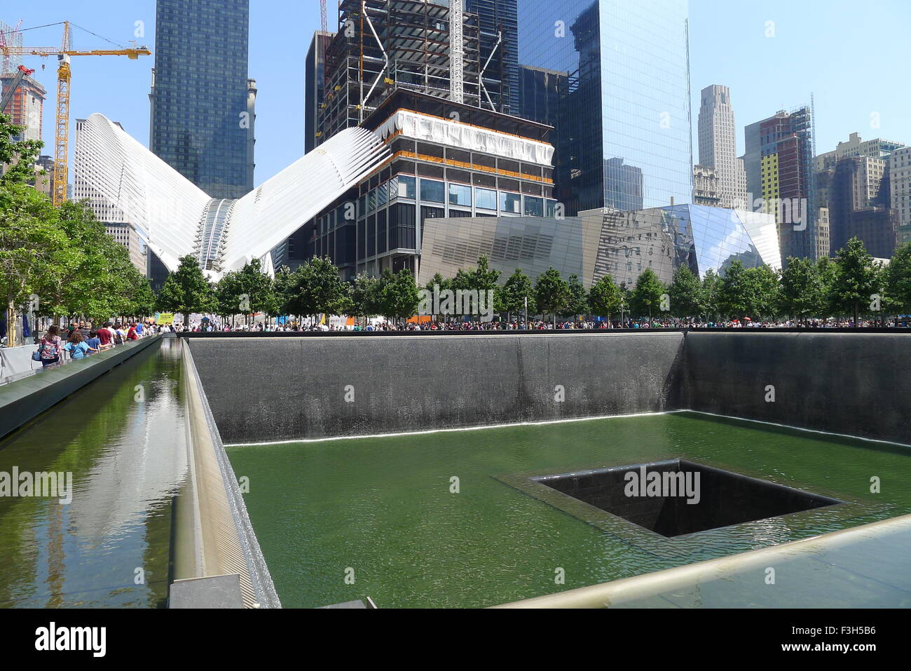 9 11 Memorial Museum North Pool And World Trade Center Stock Photo