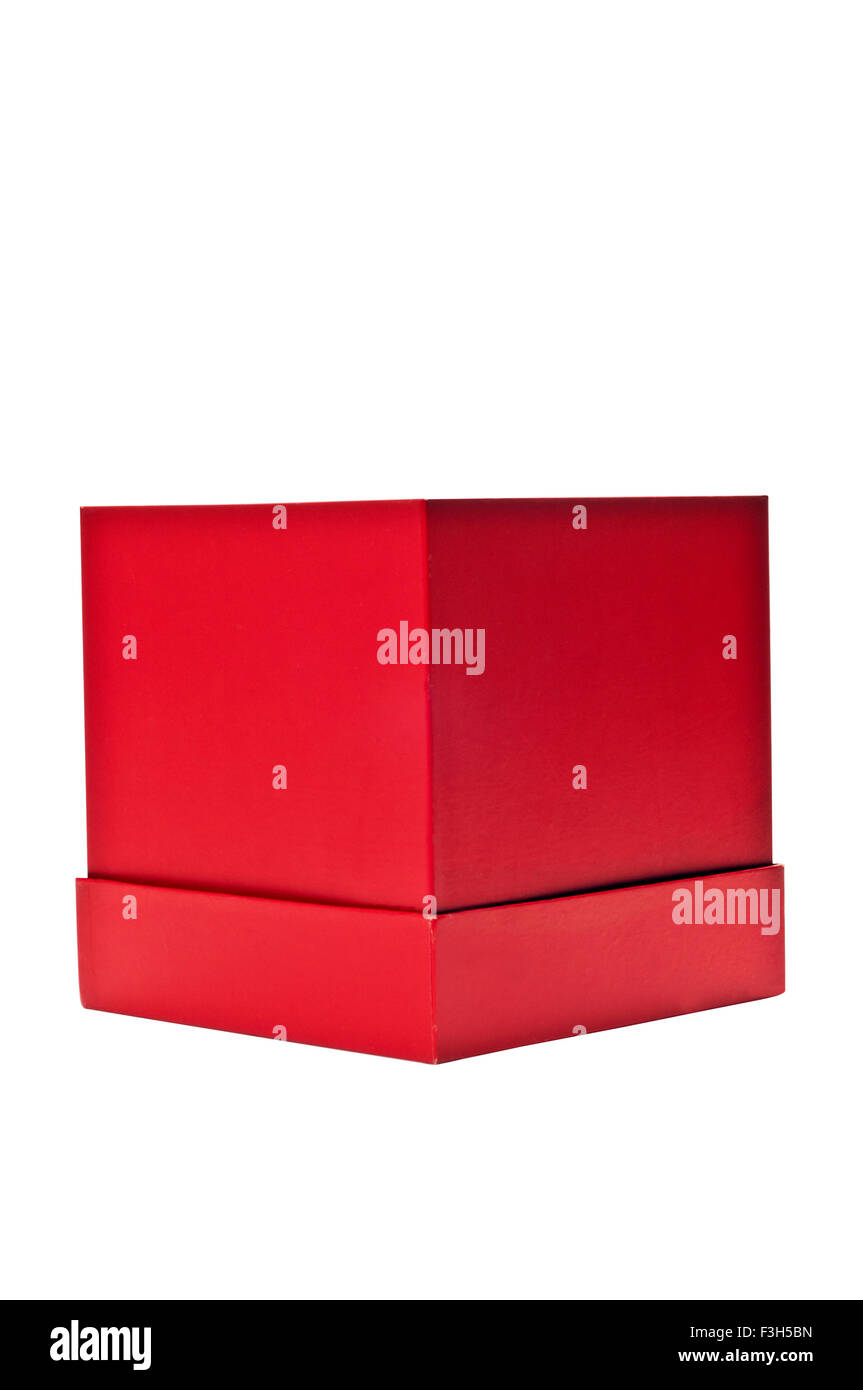 Vibrant Red Gift Box - Stock Image