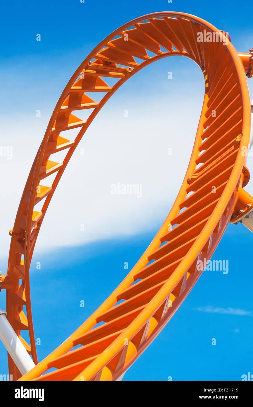 Rollercoaster, Coney Island, New York City, New York, USA - Stock Image