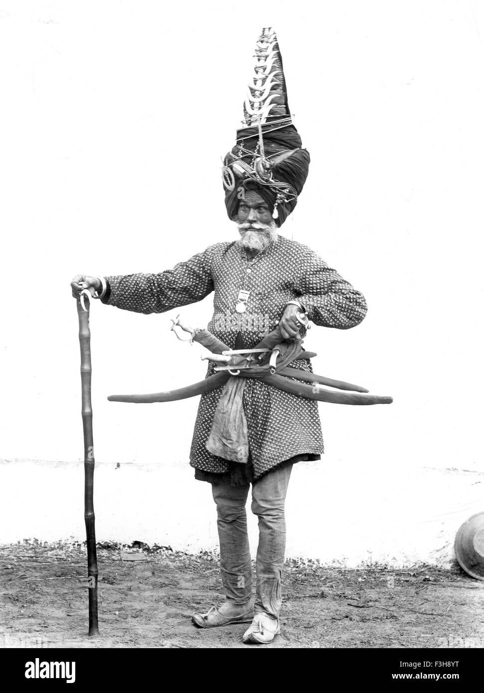 VETERAN INDIAN ARMY SOLDIER about 1905 - Stock Image