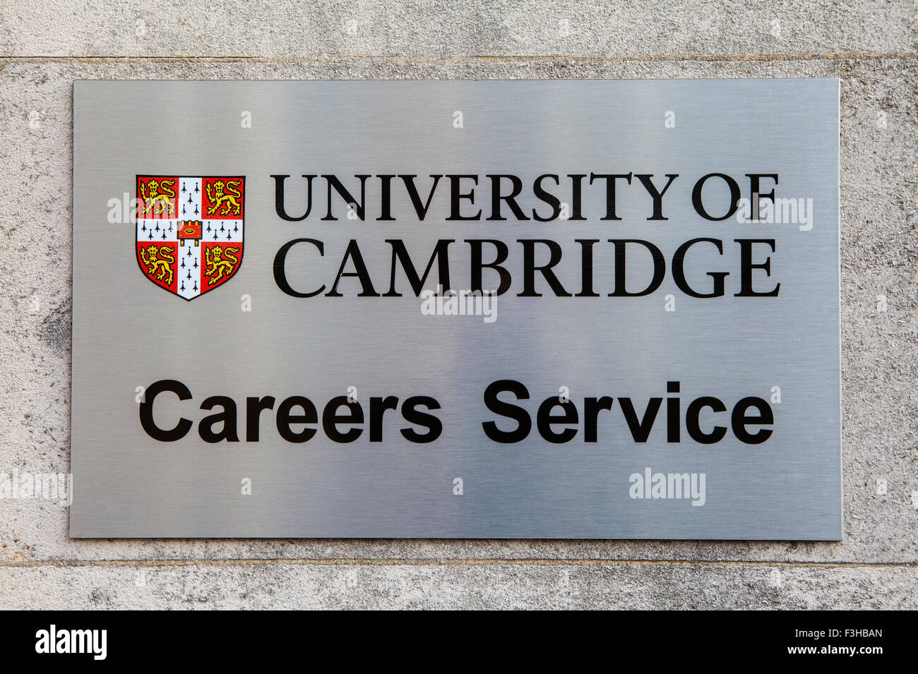 CAMBRIDGE, UK - OCTOBER 4TH 2015: A sign at Cambridge University marking the location of the Careers Advice Centre Stock Photo