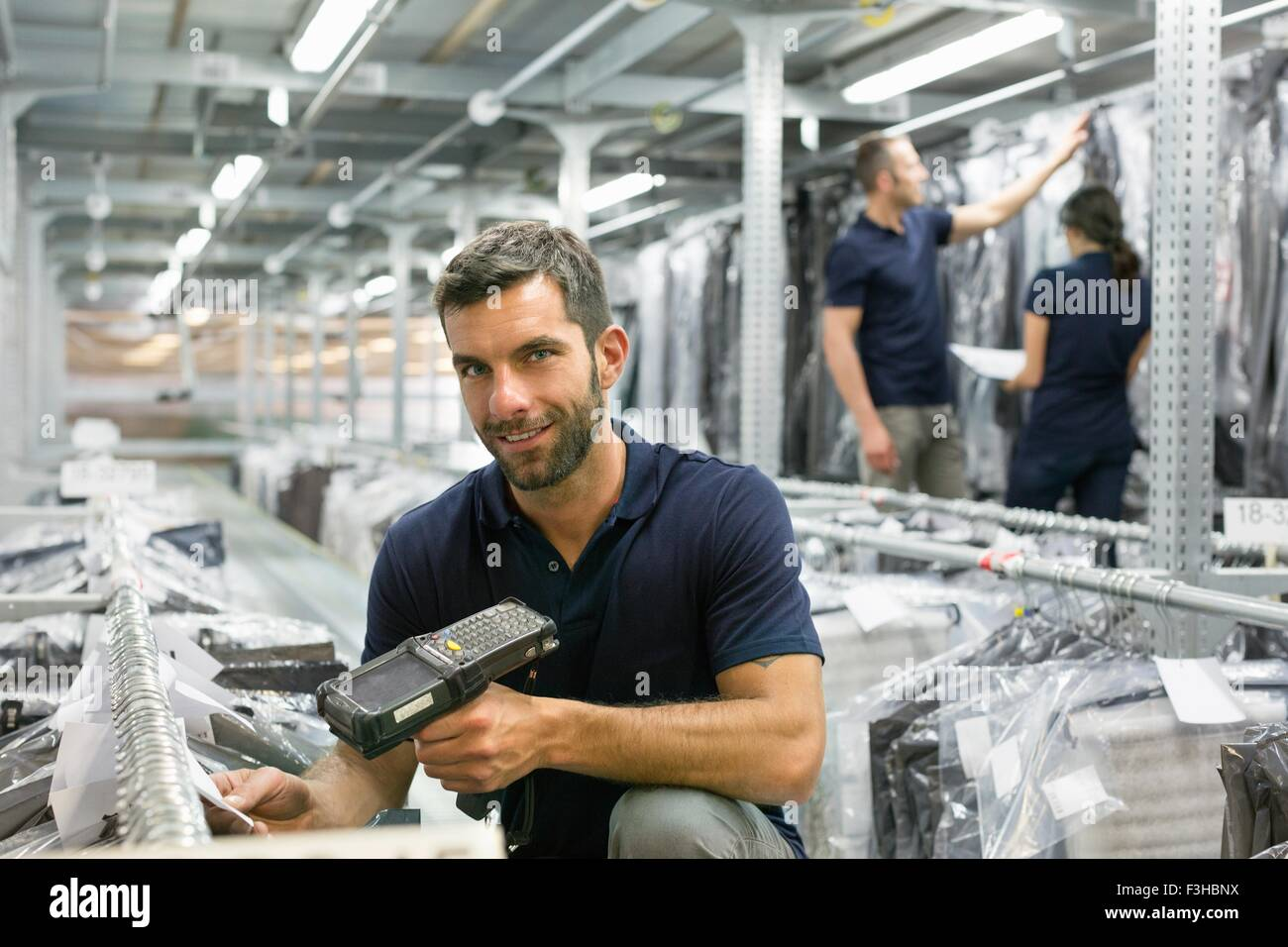 Stock take in warehouse - Stock Image