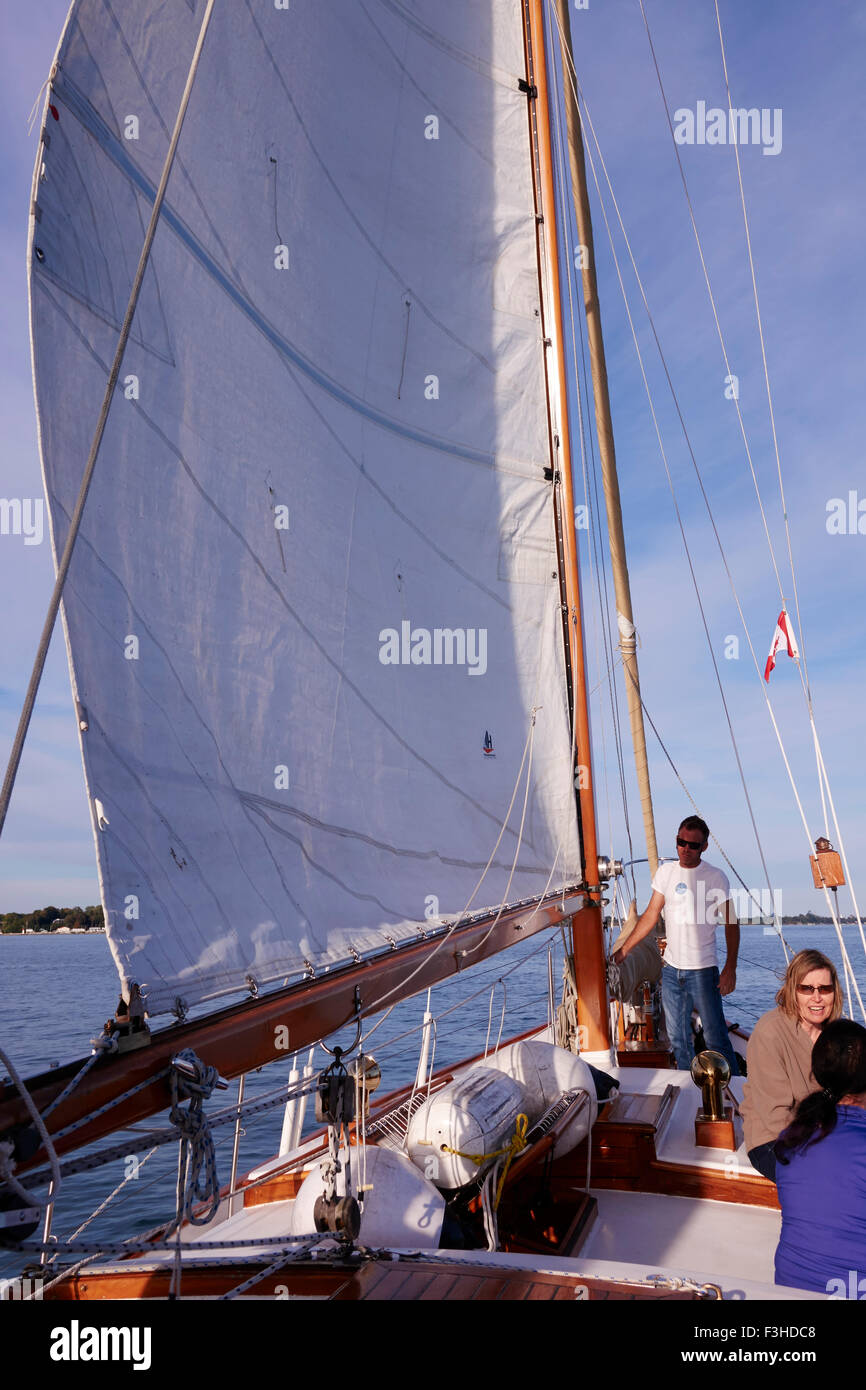 A Taiwan Formosa Ketch Sailing On Lake Ontario Out Of Port Dover Canada This Boats Operates Sailing Trips For The - Stock Image