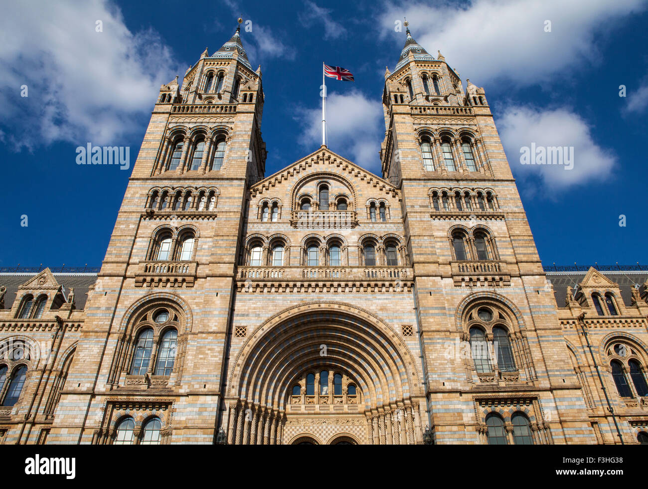 The exterior of the Natural History Museum in London. - Stock Image