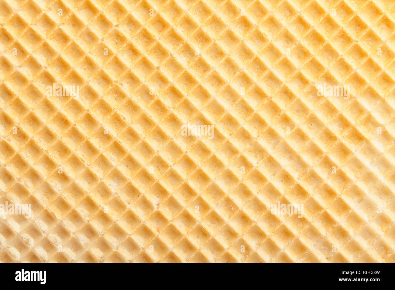 yellow waffle texture pattern - Stock Image