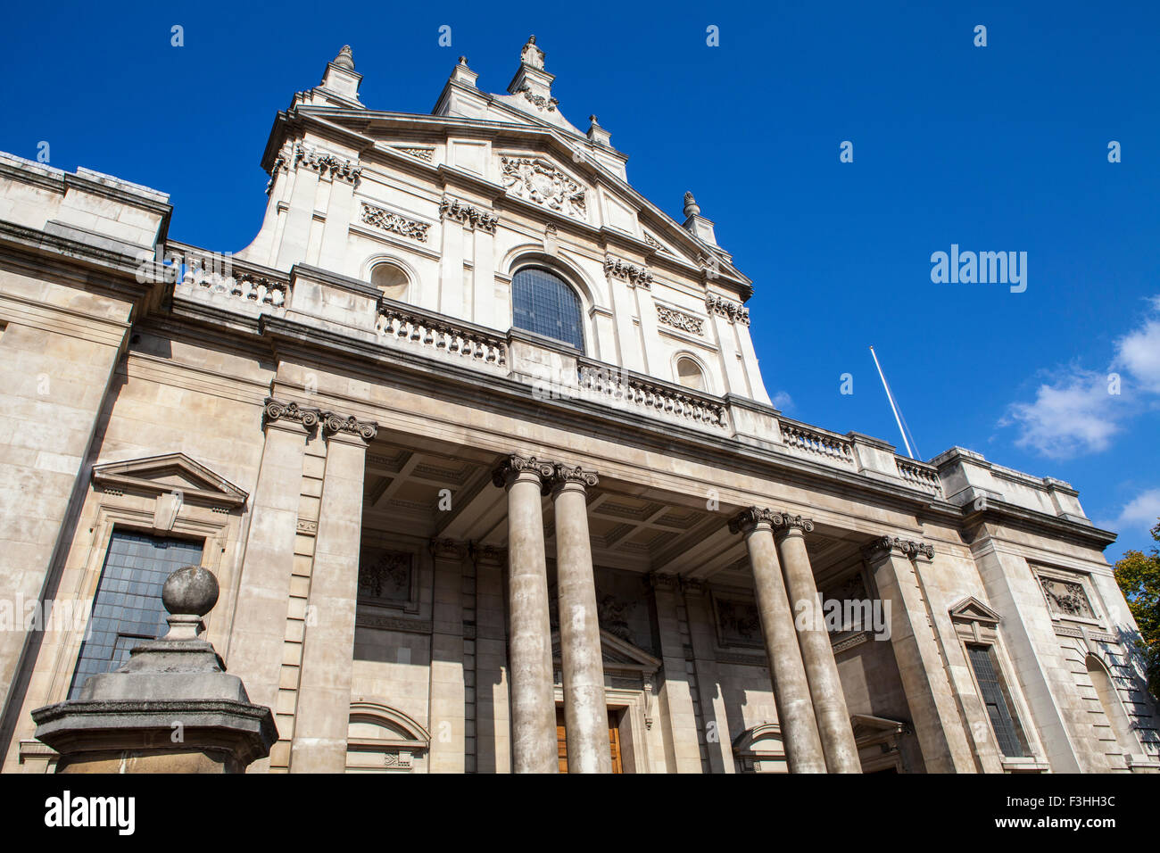 The impressive facade of the historical Brompton Oratory in London. - Stock Image