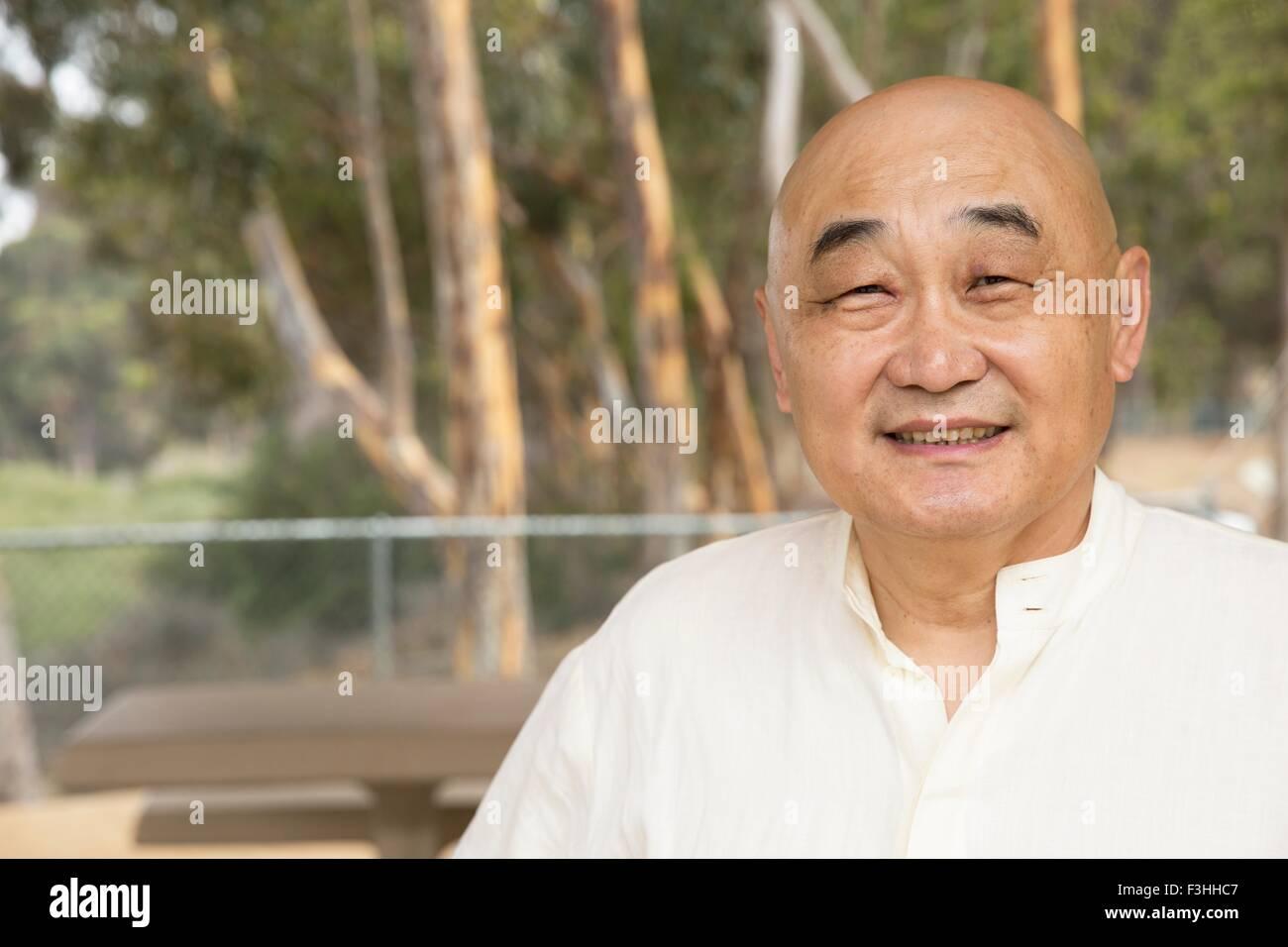 Portrait of senior man, smiling Stock Photo