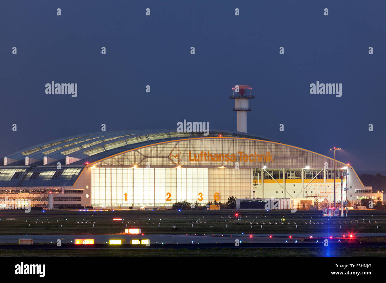 Lufthansa technique Hangar at the Frankfurt Airport Stock Photo