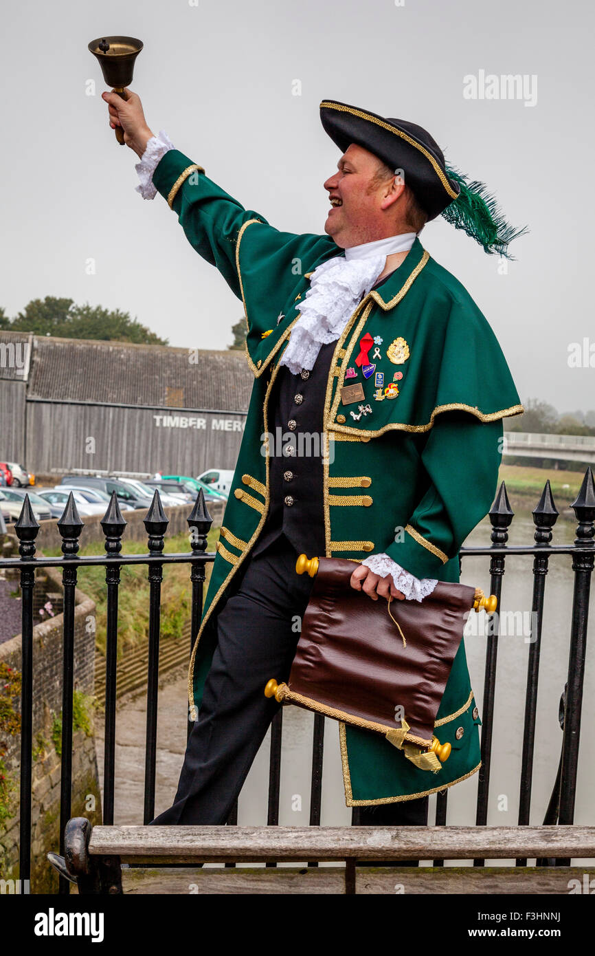 Town Crier, High Street, Lewes, Sussex, UK - Stock Image
