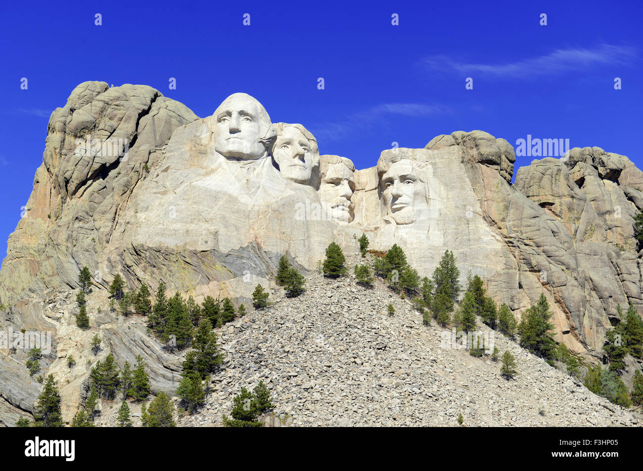 Mount Rushmore National Memorial, symbol of America located in the Black Hills, South Dakota, USA Stock Photo