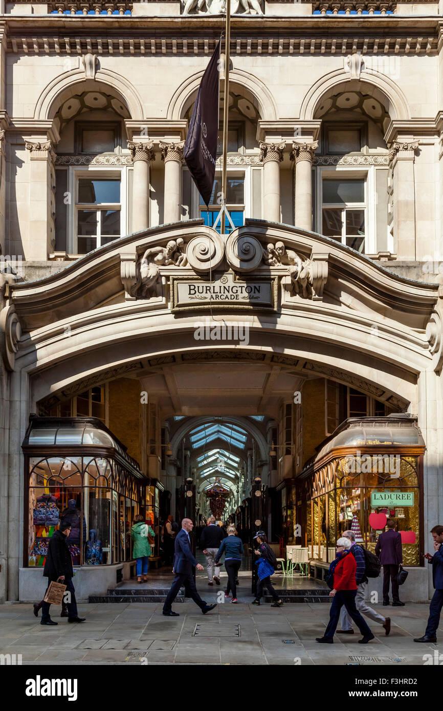 Burlington Arcade, Piccadilly, London, UK - Stock Image