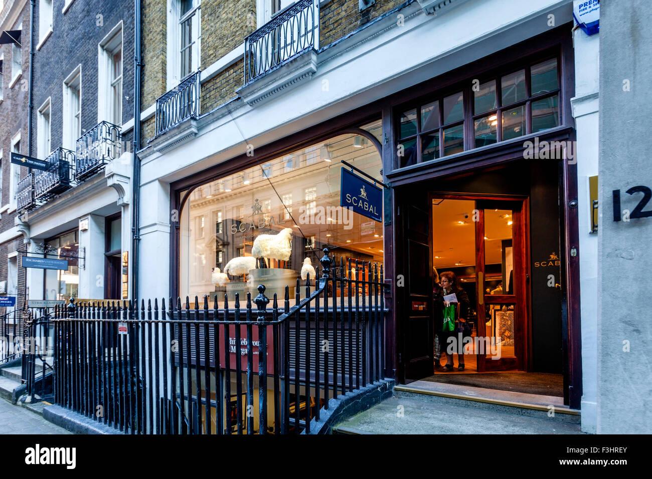 Scabal Tailors, Savile Row, London, UK Stock Photo ...