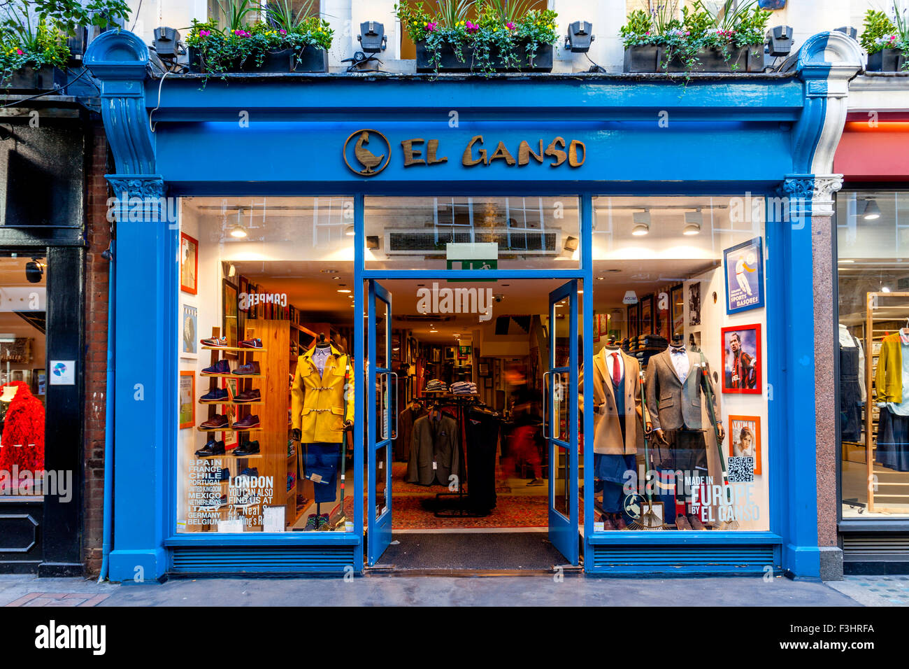Colourful Shops In Carnaby Street, London, UK - Stock Image