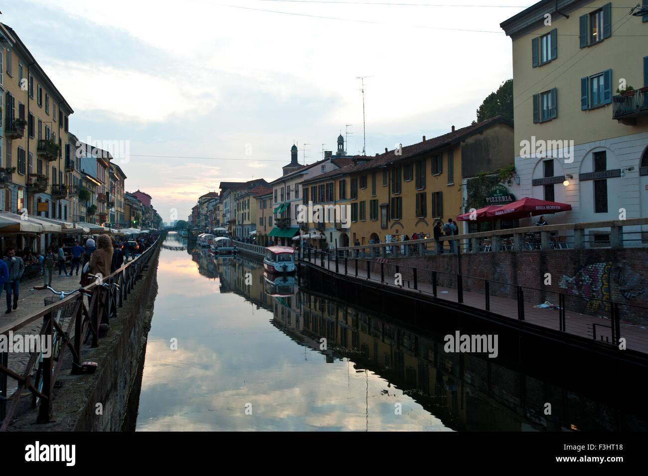 Naviglio Grande, Milan, Italy Stock Photo