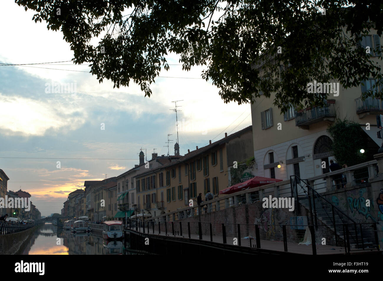 Naviglio Grande, Milan, Italy Stock Photo