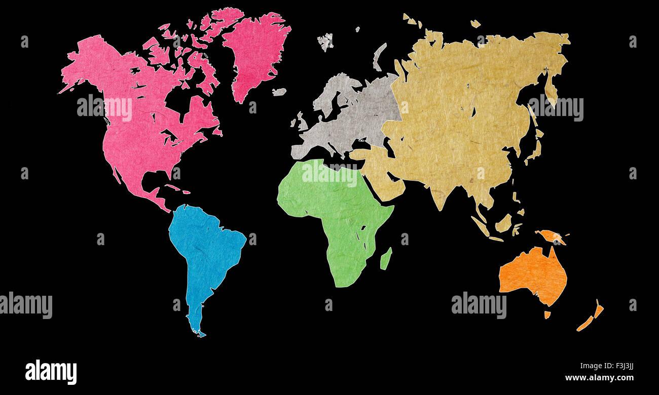 World Maps - Stock Image