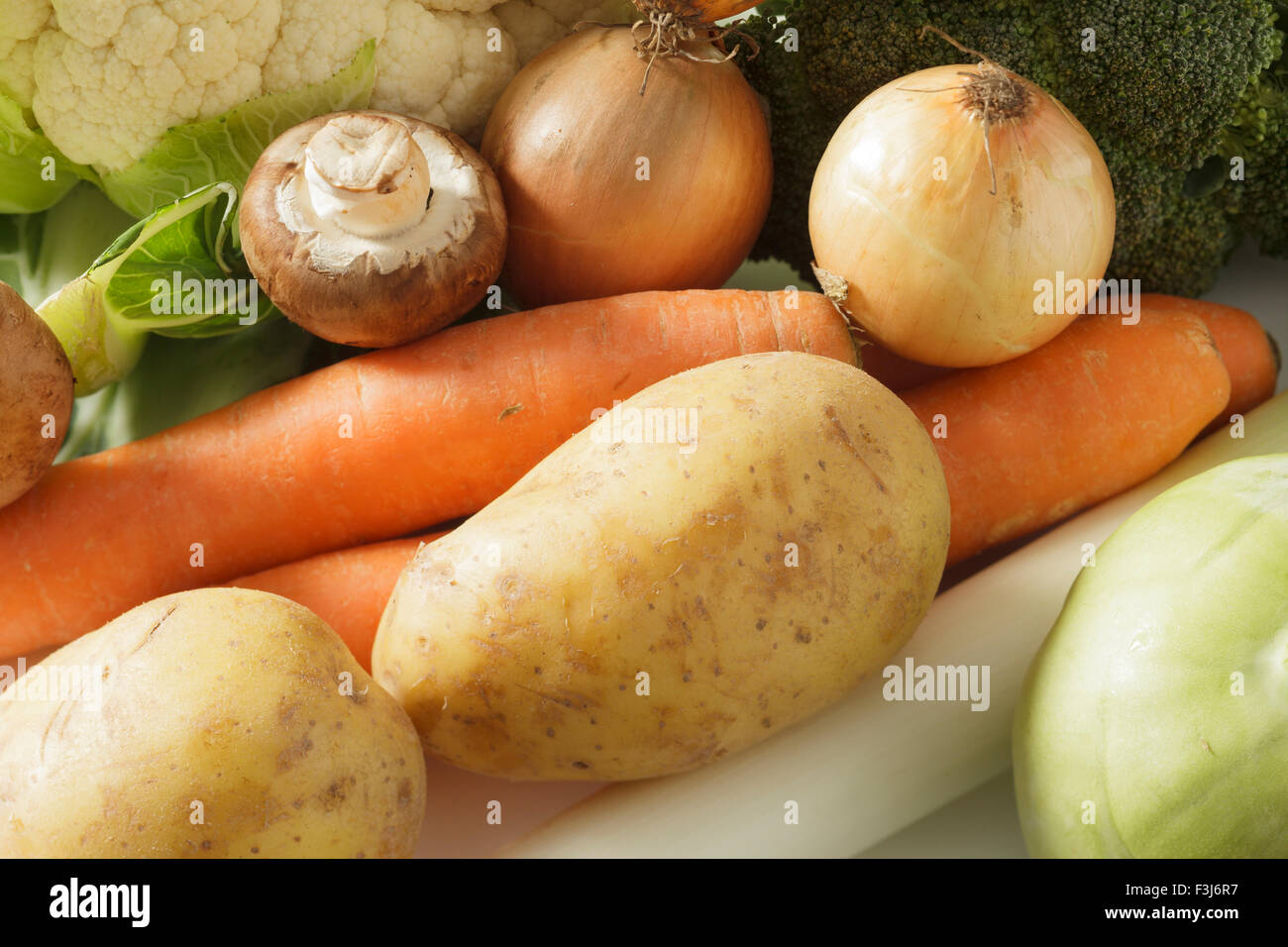 selection of winter vegetables - Stock Image