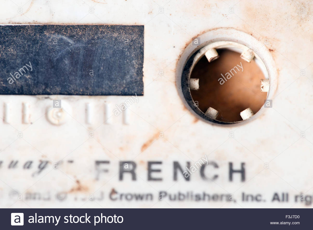 French Lessons On Audio Compact Cassette Tape - (Used By Explorer Kypros During 'The Last Great African Adventure' - Stock Image