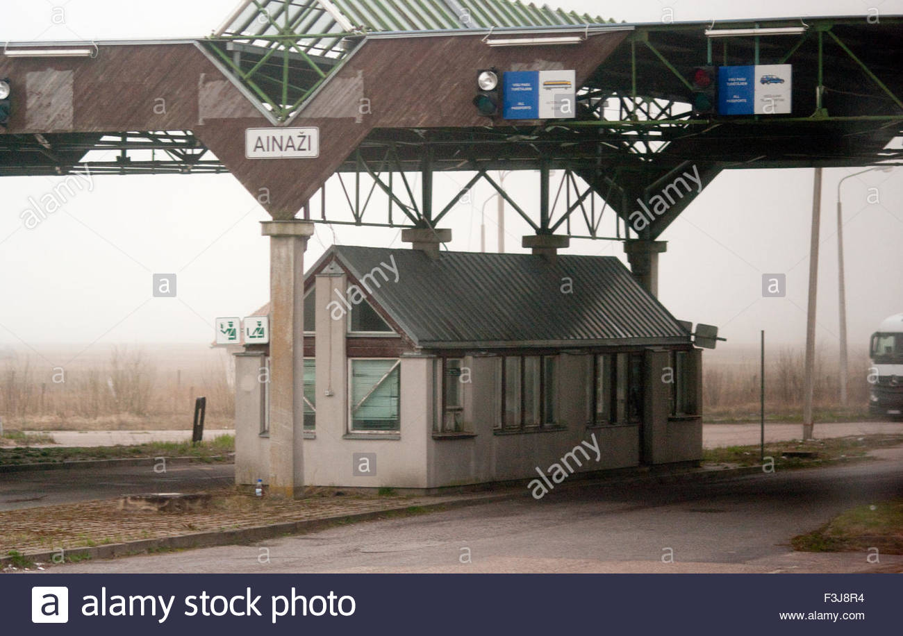 Customs And Immigration At Country Border - Tallinn Estonia Europe - Stock Image