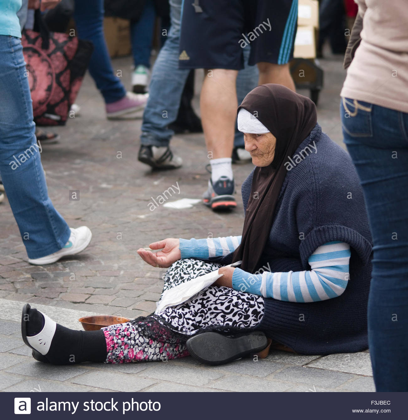 France, Lille, Muslims In Europe - Stock Image