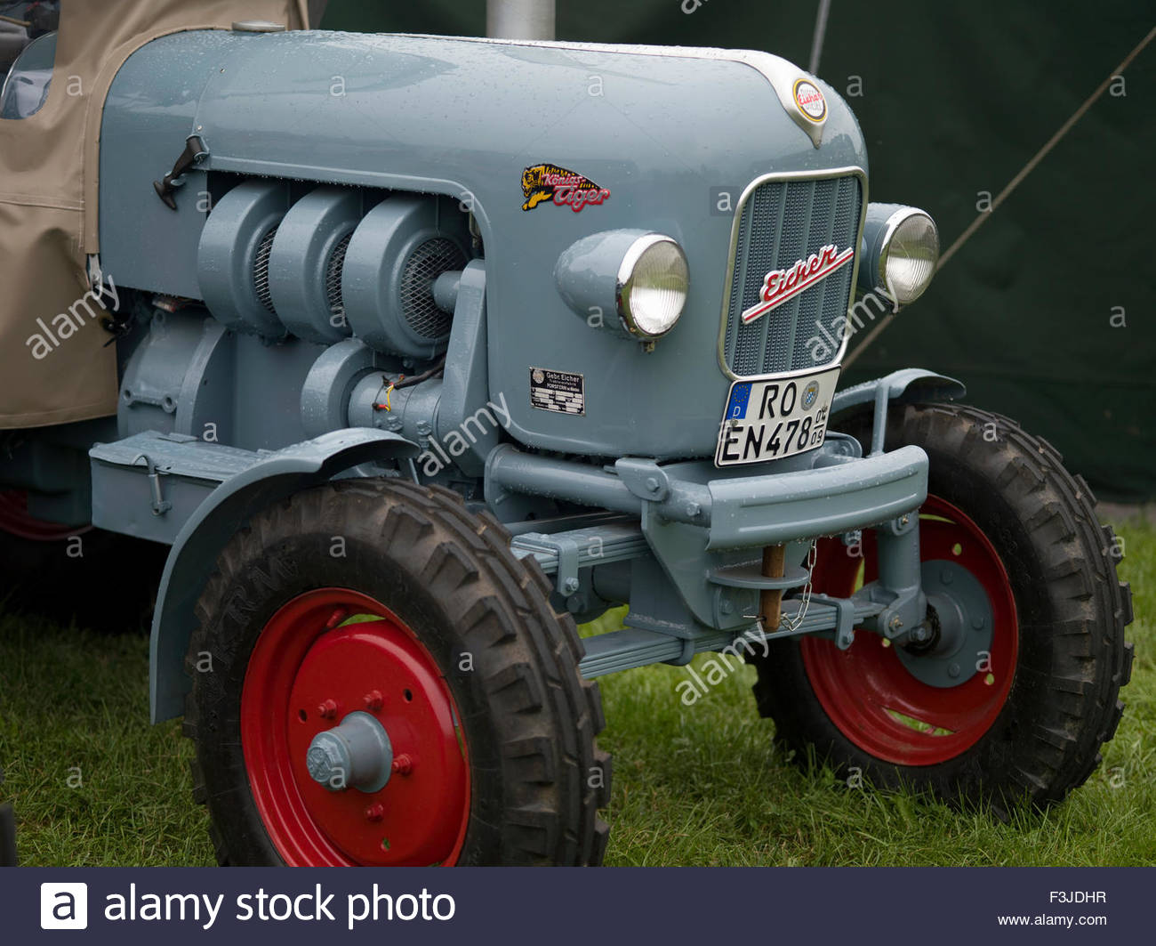 Ancient Farming Tractor - Bavaria Germany - Stock Image