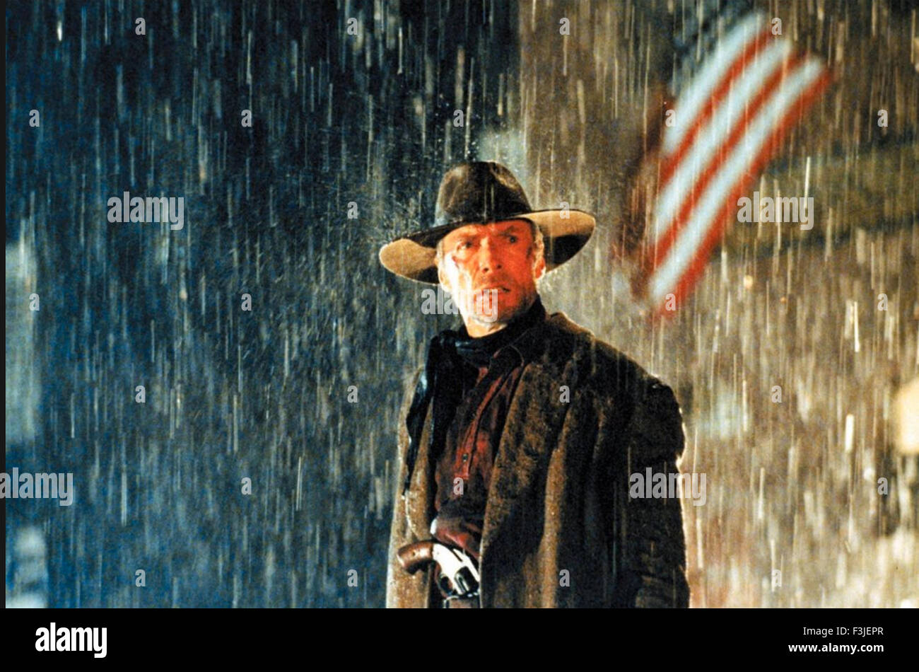 UNFORGIVEN 1992 Warner Bros film with Clint Eastwood - Stock Image