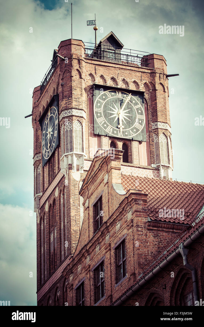 Gothic tower of town hall in Torun-city on The World Heritage List. Stock Photo