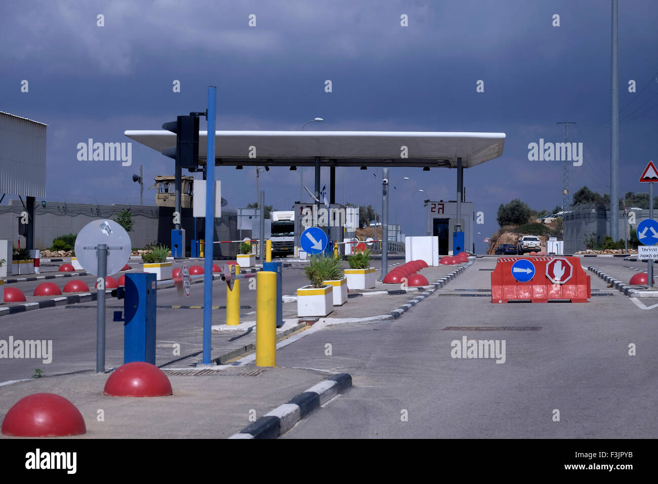 Hashmonaim checkpoint in the West Bank Israel - Stock Image