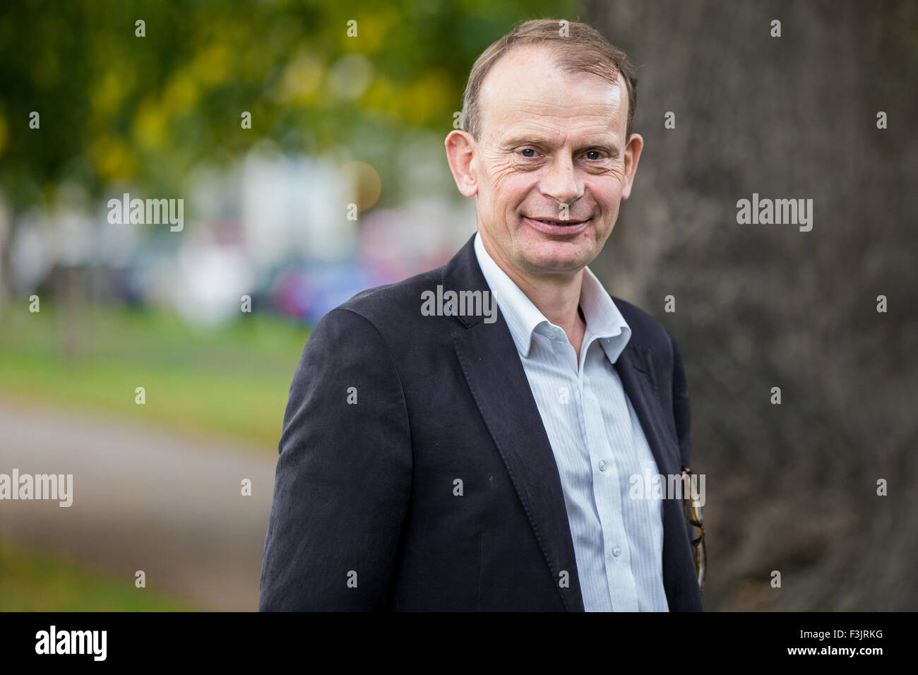 Andrew Marr (political commentator) talks at The Cheltenham Literature Festival, 2015. We British: The Poetry of - Stock Image