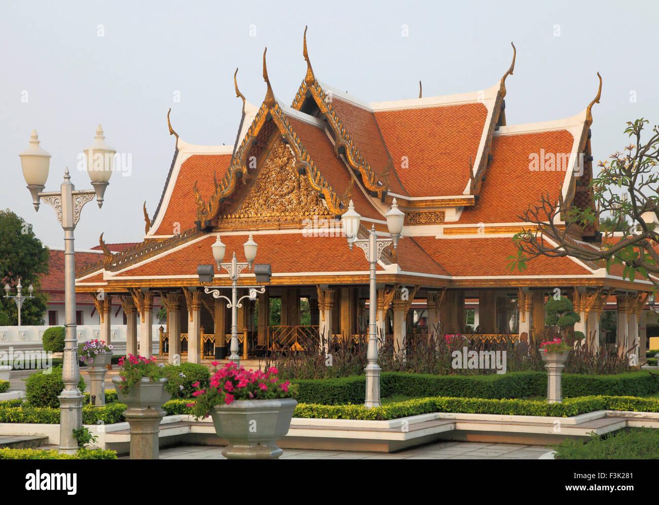 Thailand, Bangkok, pavilion, traditional architecture, - Stock Image