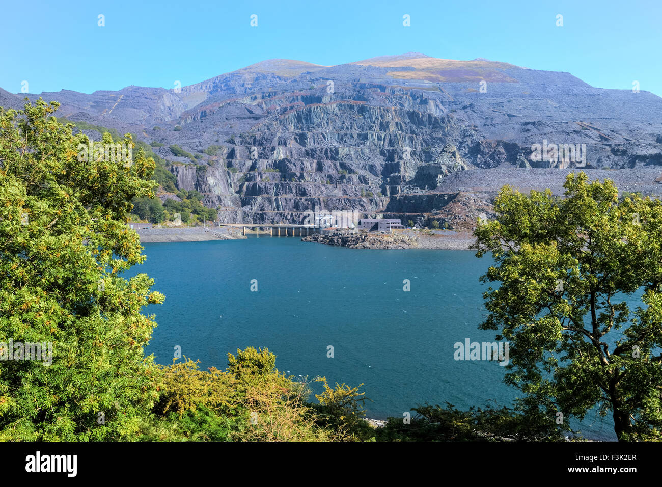 Dinorwic Quarry, Llanberis, Wales, United Kingdom - Stock Image