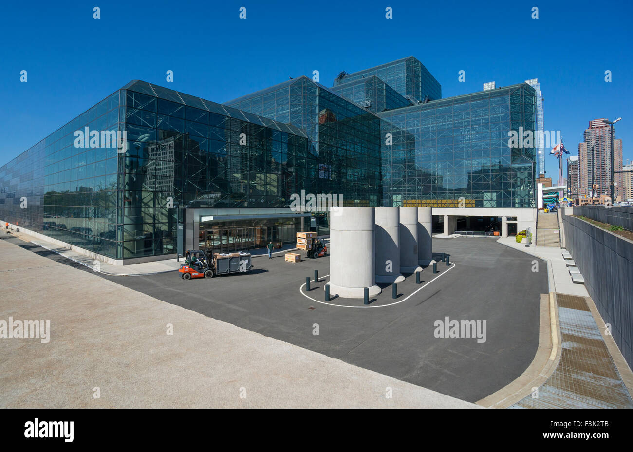 Jacob K. Javits Convention Center , or Javits Center, on Manhattan's West Side in New York City Stock Photo