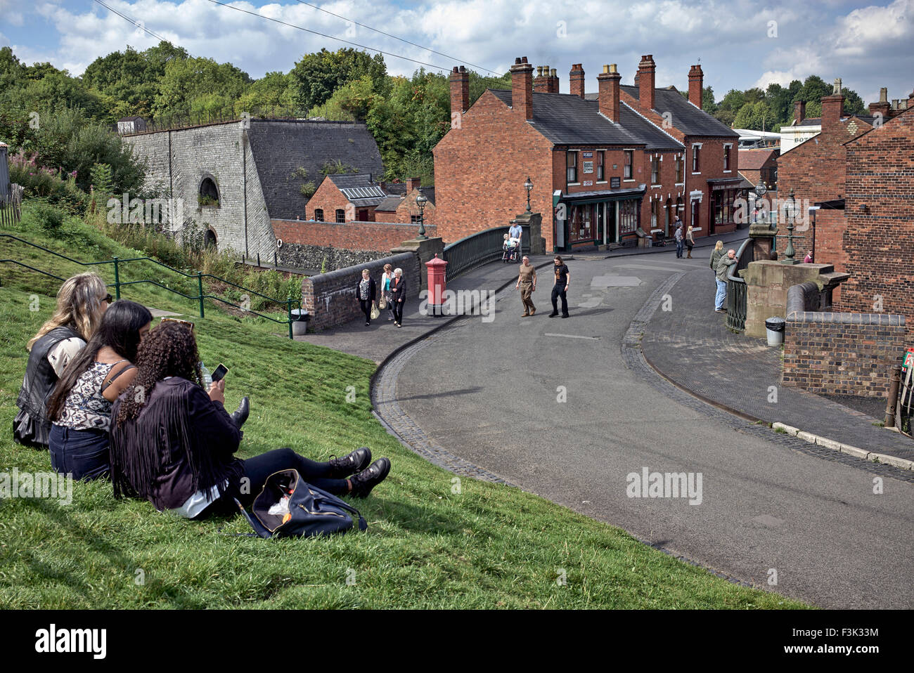 Overview of the main street at the Black Country Living Museum Dudley West Midlands England UK - Stock Image