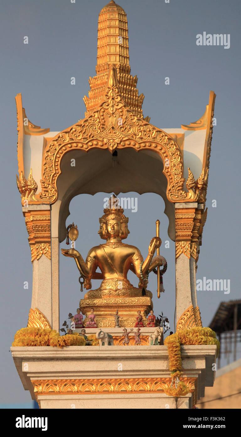 Thailand, Bangkok, shrine, statue, - Stock Image