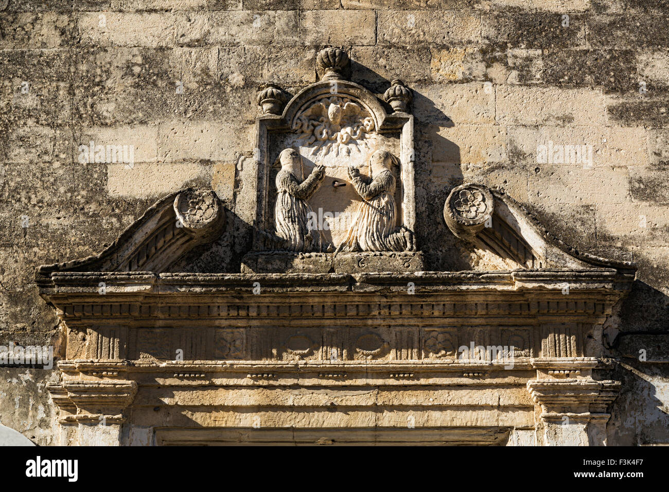 Church stonework Chapel of the White Penitents - Stock Image