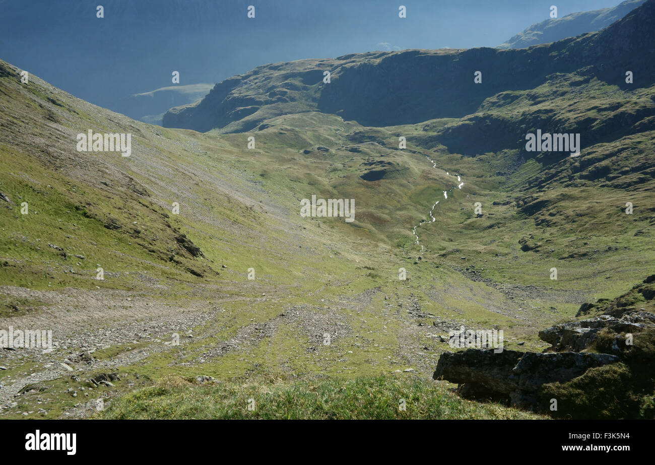 the view from Striding Edge - Stock Image