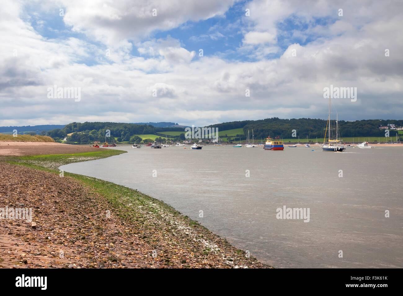 River Exe at Dawlish Warren, Devon, England. - Stock Image