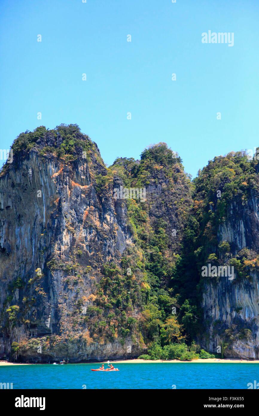 Thailand, Krabi, Railay, landscape, karst rock formations, Stock Photo