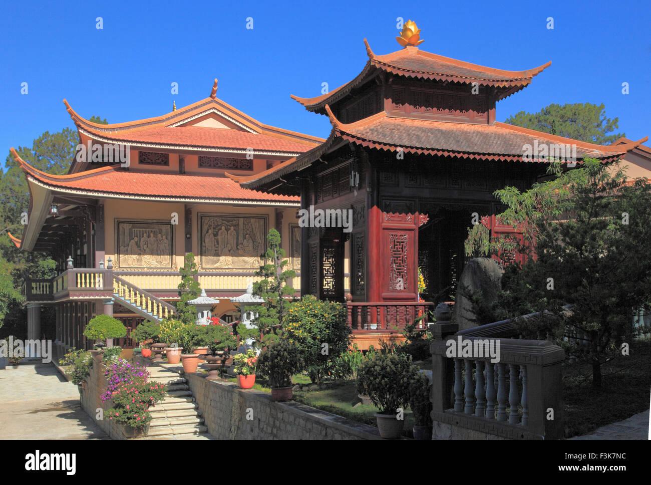 Vietnam, Dalat, Truc Lam, zen buddhist temple, - Stock Image