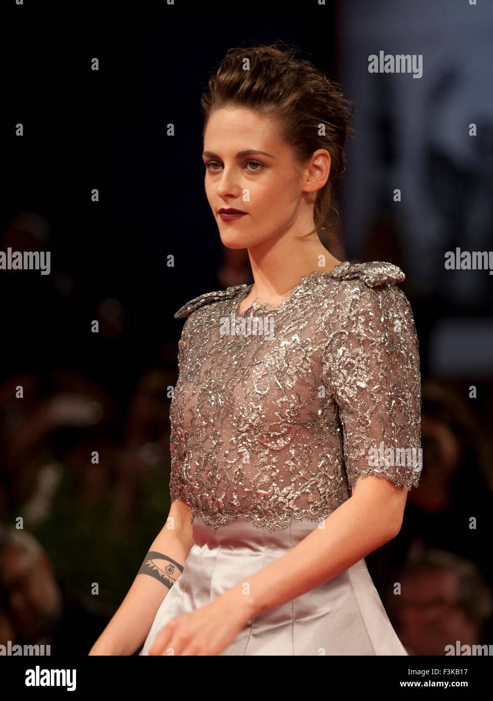 Actress Kristen Stewart at the gala screening for the film Equals at the 72nd Venice Film Festival, Saturday September Stock Photo