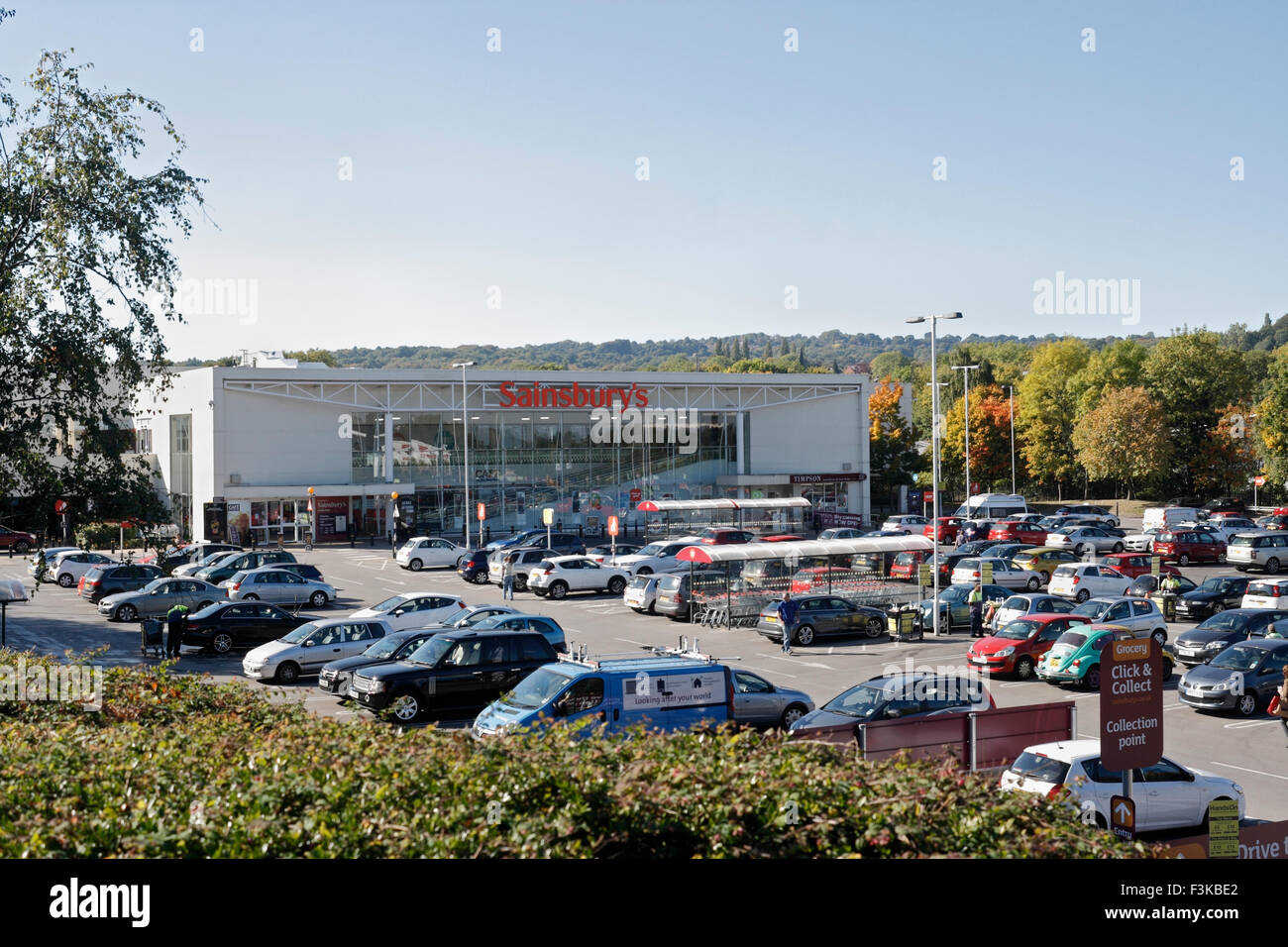 Sainsbury's supermarket Millhouses Abbeydale Sheffield - Stock Image