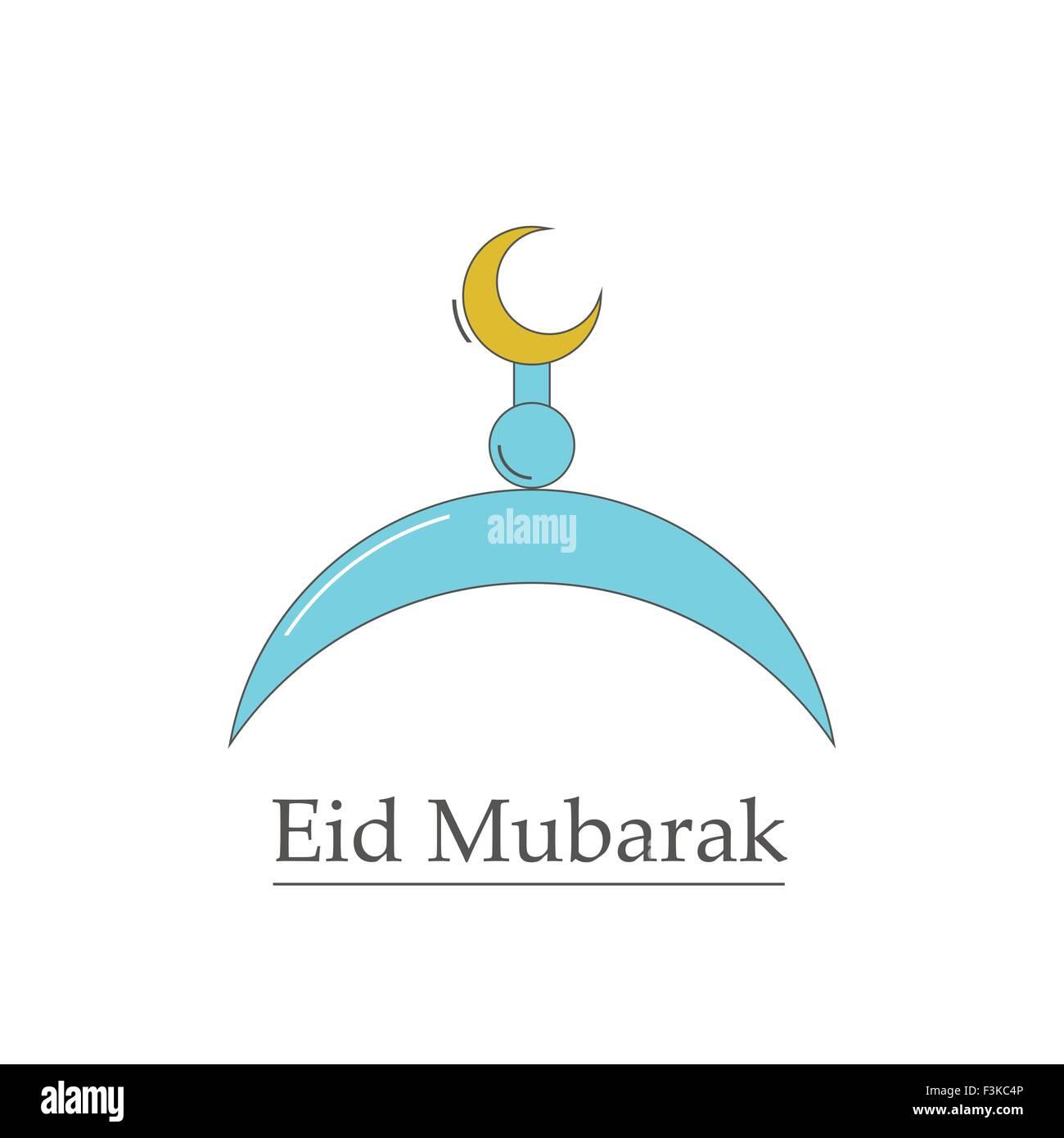 Vector Symbol Of The Muslim Eid Mubarak Stock Vector Art