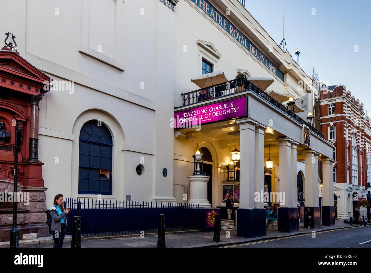 The Theatre Royal Drury Lane, Covent Garden, London, UK - Stock Image