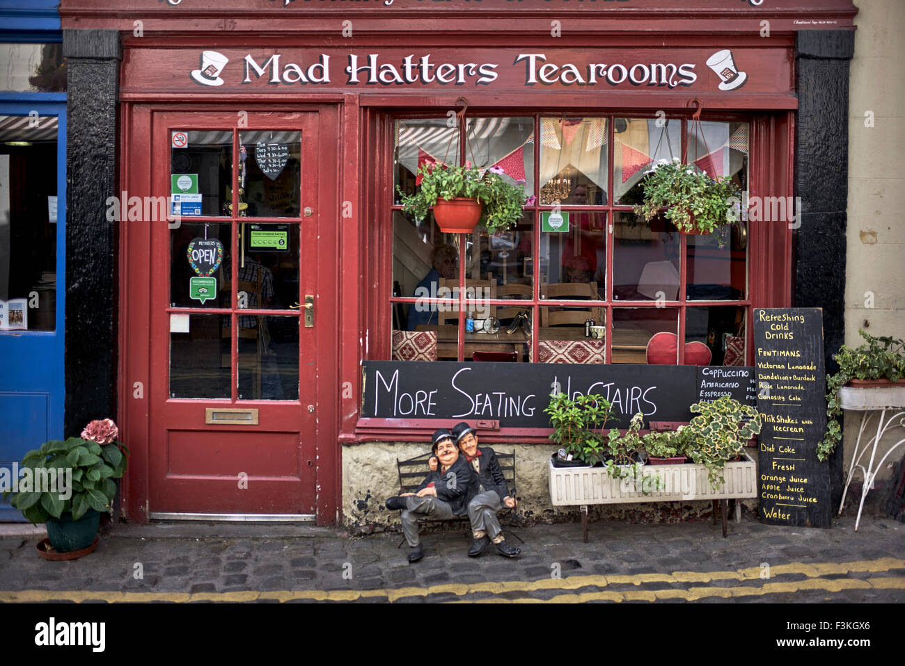 Traditional English tearoom at Ulverston Lake District Cumbria England UK - Stock Image