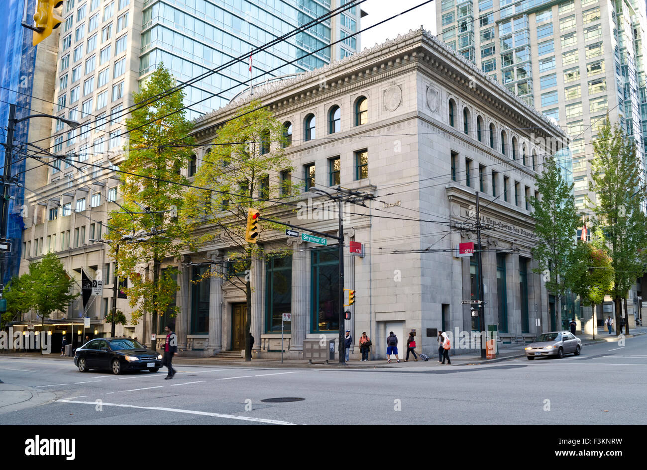 Morris J. Wosk Centre for dialogue in downtown Vancouver, British Columbia, Canada.  Associated with Simon Fraser - Stock Image