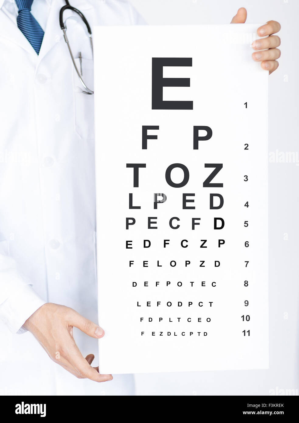 Male Ophthalmologist With Eye Chart Stock Photo 88331339 Alamy