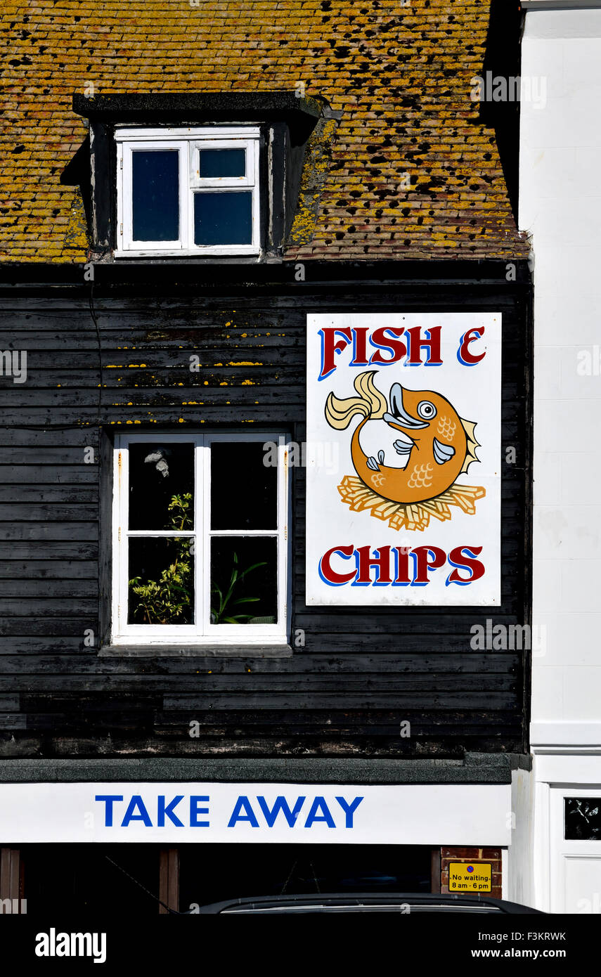 Hastings, East Sussex, England, UK. Neptune Fish & Chip shop - Stock Image