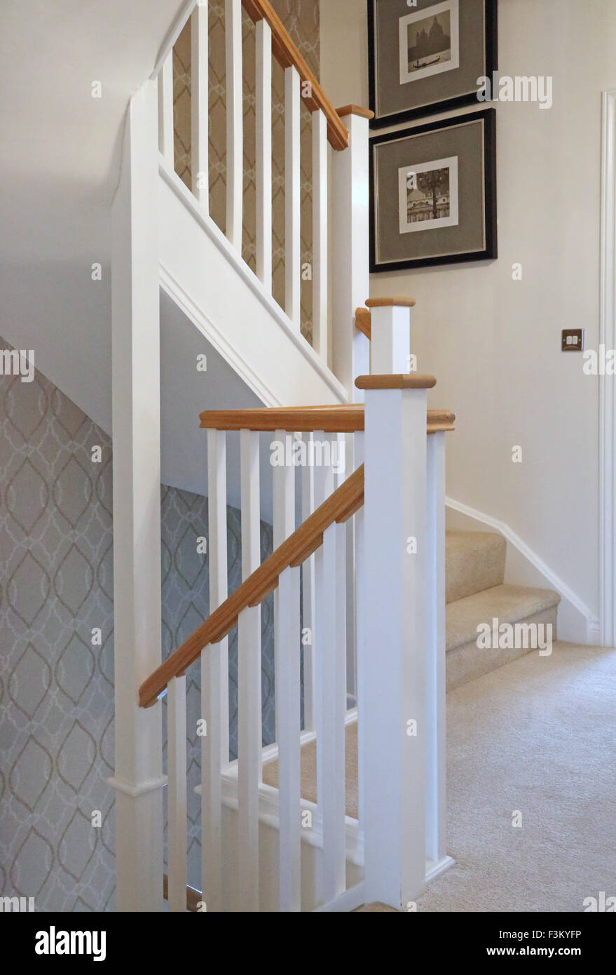 Superb Traditional Timber Staircase And Banisters In A New Three Storey Show Home  Showing Stairs, Newel Posts Stair Structure